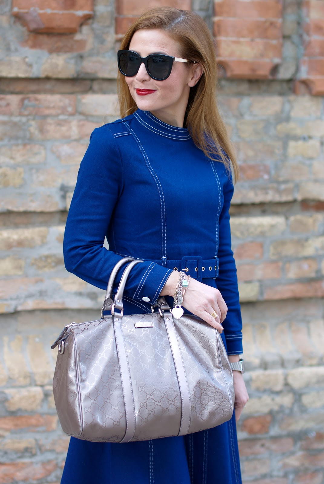 Dezzal dress, Gucci bag on Fashion and Cookies fashion blog, fashion blogger style