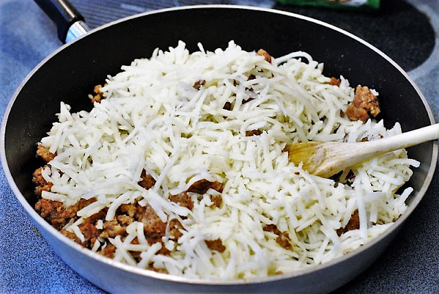Shredded Hash Browns for Overnight Breakfast Casserole Image
