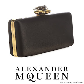 Kate Middleton carried the Alexander McQueen Heart-Clasp Satin Box Clutch