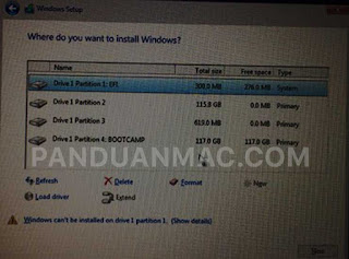 Membuat Partisi di Hard Disk Mac dan Install Windows 10
