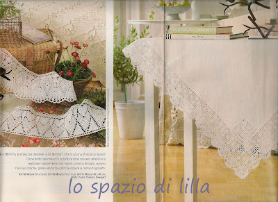 Lo spazio di lilla pizzi e bordure all 39 uncinetto da for Merletti all uncinetto schemi
