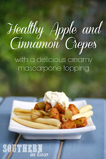 Healthy Apple Cinnamon Gluten Free Crepes Recipe with Mascarpone