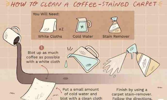 Cara Membersihkan Noda Kopi di Karpet