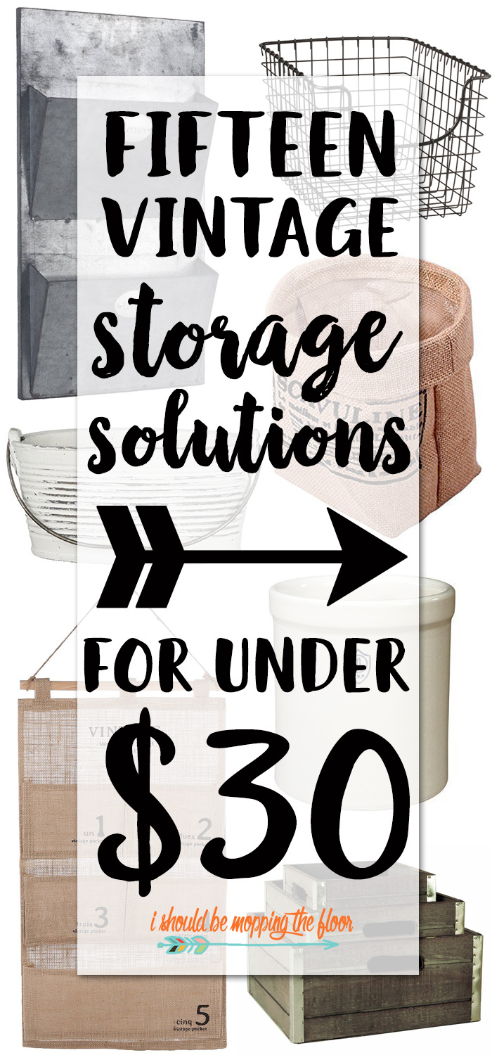 Cheap Vintage Storage Ideas