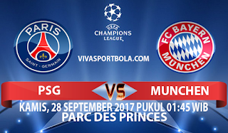Prediksi Paris Saint Germain vs Bayern Munchen 28 September 2017