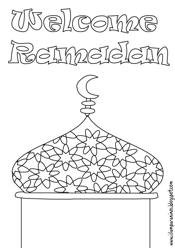 Islam Para Niños: Bienvenido Ramadan para colorear en