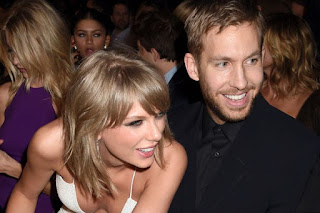 It seems Calvin Harris and Kim Kardashian have more in common that we first thought.  The pair, who have both enjoyed high-profile spats with Taylor Swift , posed together as they helped Jennifer Lopez to celebrate her 47th birthday last night.