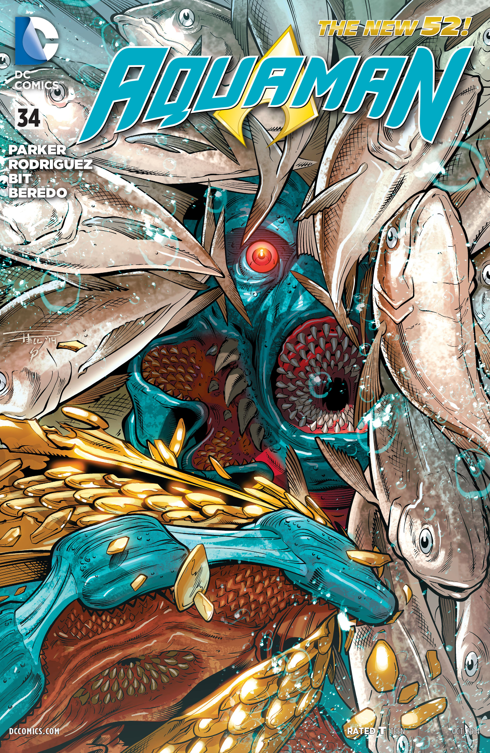 Read online Aquaman (2011) comic -  Issue #34 - 1