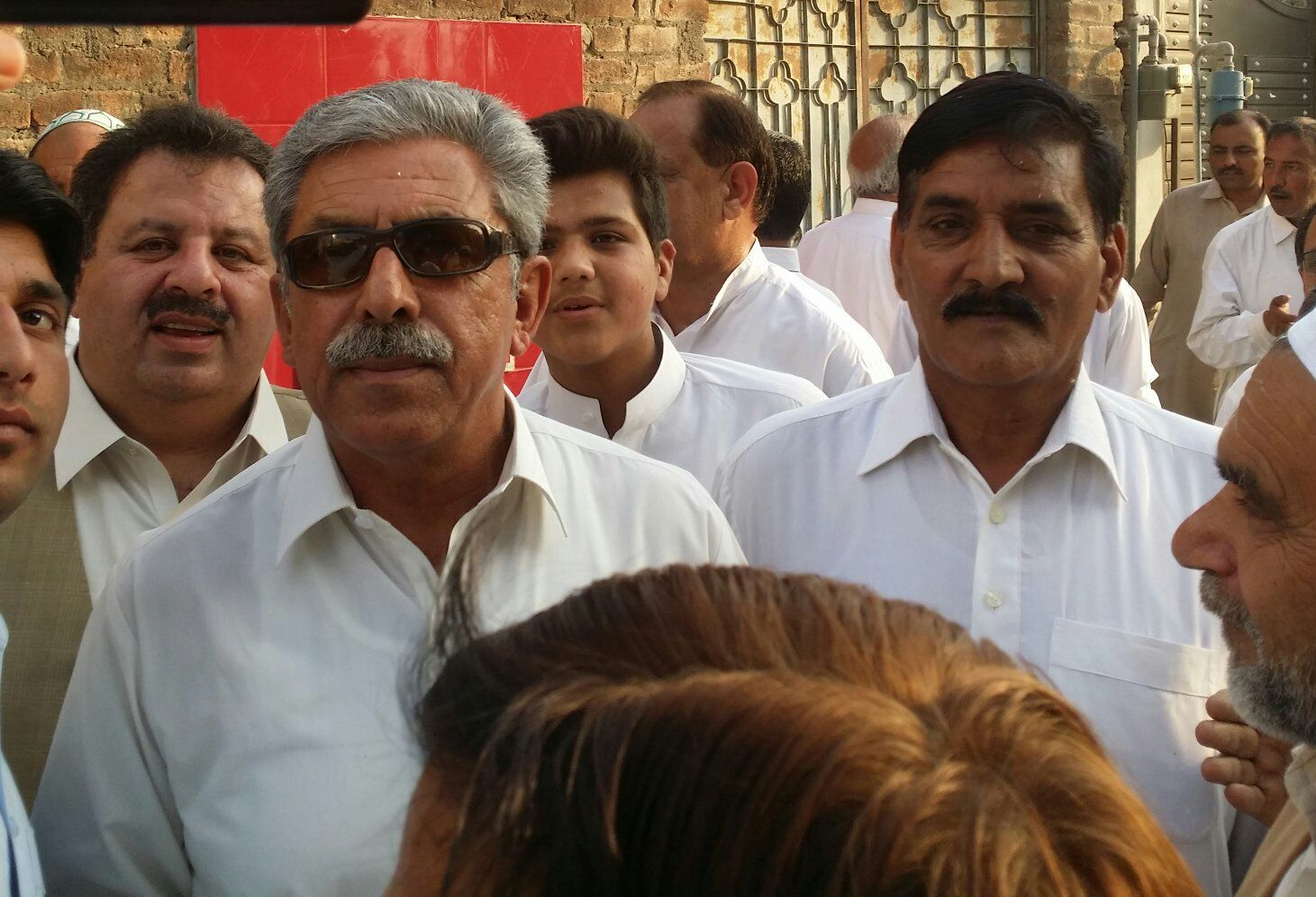 PTI Leader Yousef Ayub Khan and Sub Major Muhammad Sadiq Awan - Awan Colony Haripur