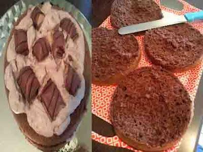 لاير كيك الشكولاته layer cake