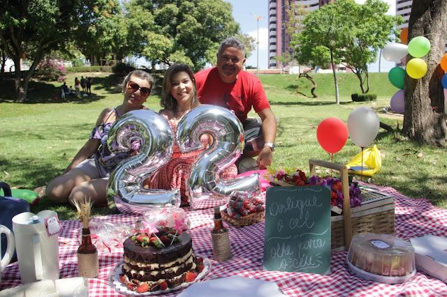 Aniversário Piquenique 22 anos Andressa Belizário Parque do Cocó Fortaleza Ceará