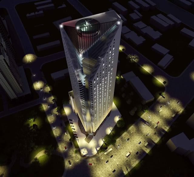 Phối cảnh chung cư tháp doanh nhân