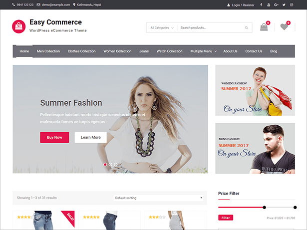 10 Best Free E-Commerce WordPress Themes - September 2017