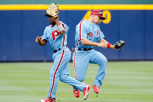 Take a look at this Phillies throwback look with Jimmy Rollins and then  compare it to the look of Steve Carlton wearing the powder blue road  uniforms from ... 3f8f1007be9