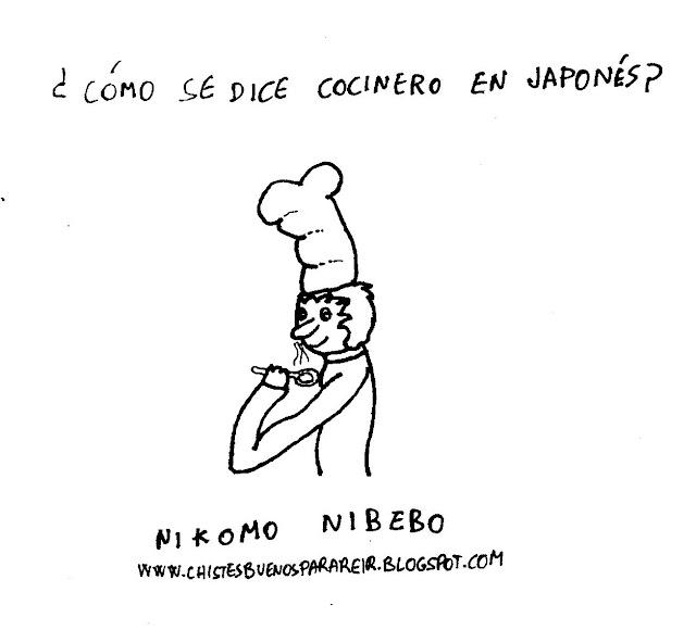 ¿Cómo se dice cocinero en japonés? Nikomo Nibebo