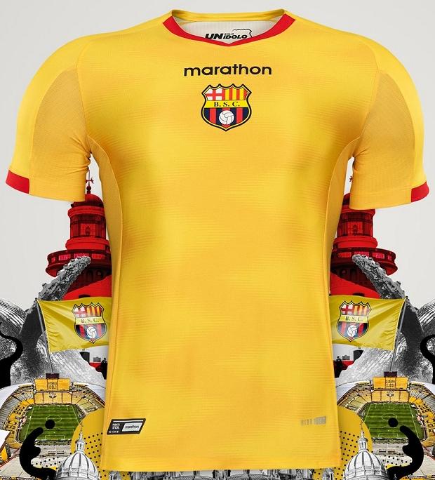 Marathon lança as novas camisas do Barcelona de Guayaquil - Show de ... f71045a86a678
