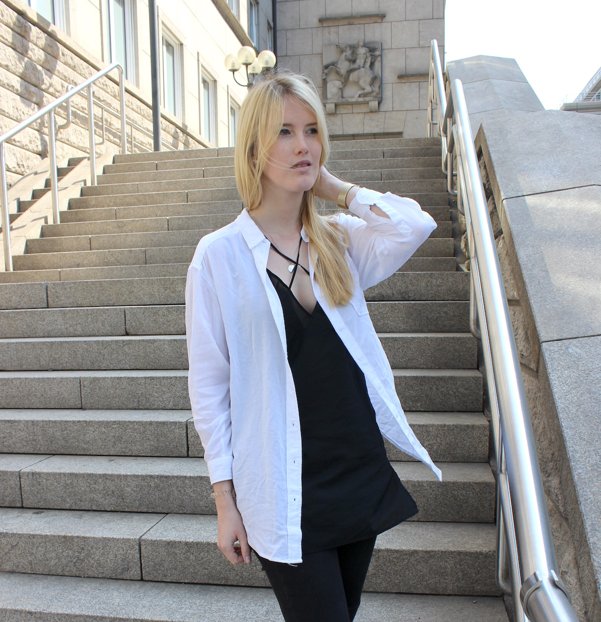 How to Style Fashion Blogger Germany Lingerine Alltag Outfit