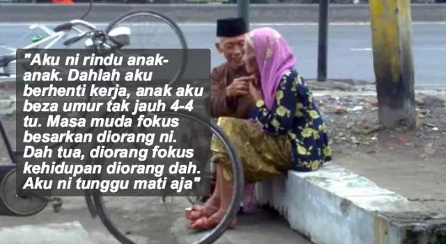 Seorang Lelaki Terjumpa Wanita Tua Di Pasar, Siapa Sangka Disebalik Wajahnya Yang Gembira Sebenarnya..