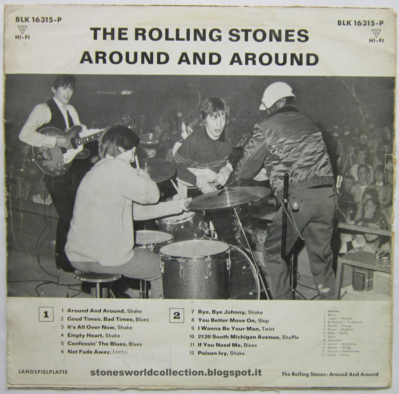 """Around And Around"""" - 1964 German Release by The Rolling Stones"""