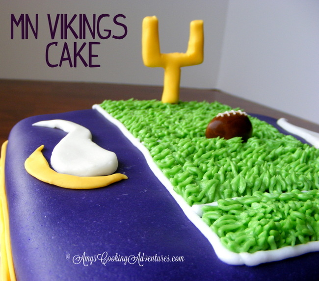 Amys Cooking Adventures Mn Vikings Cake