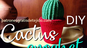 Patrones de Cactus con Maceta Amigurumi con tutorial en video