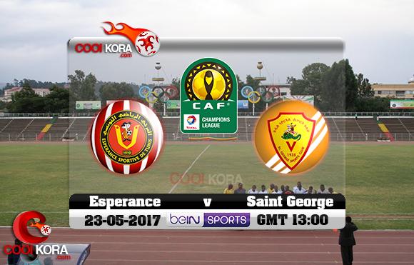 مشاهدة مباراة سانت جورج والترجي الرياضي اليوم 23-5-2017 دوري أبطال أفريقيا