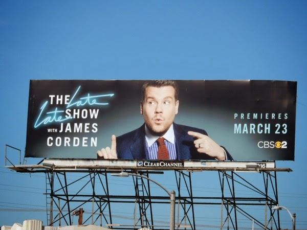 Late Late Show James Corden billboard