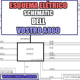 Esquema Elétrico DELL Vostro A860 Notebook / Laptop Manual de Serviço - Schematic Service Manual