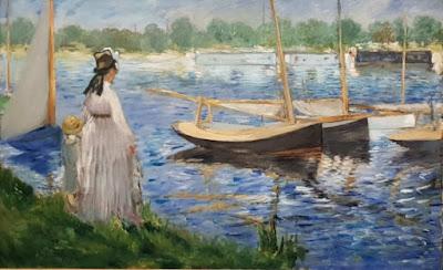 Bords de Seine à Argenteuil par Edouard Manet