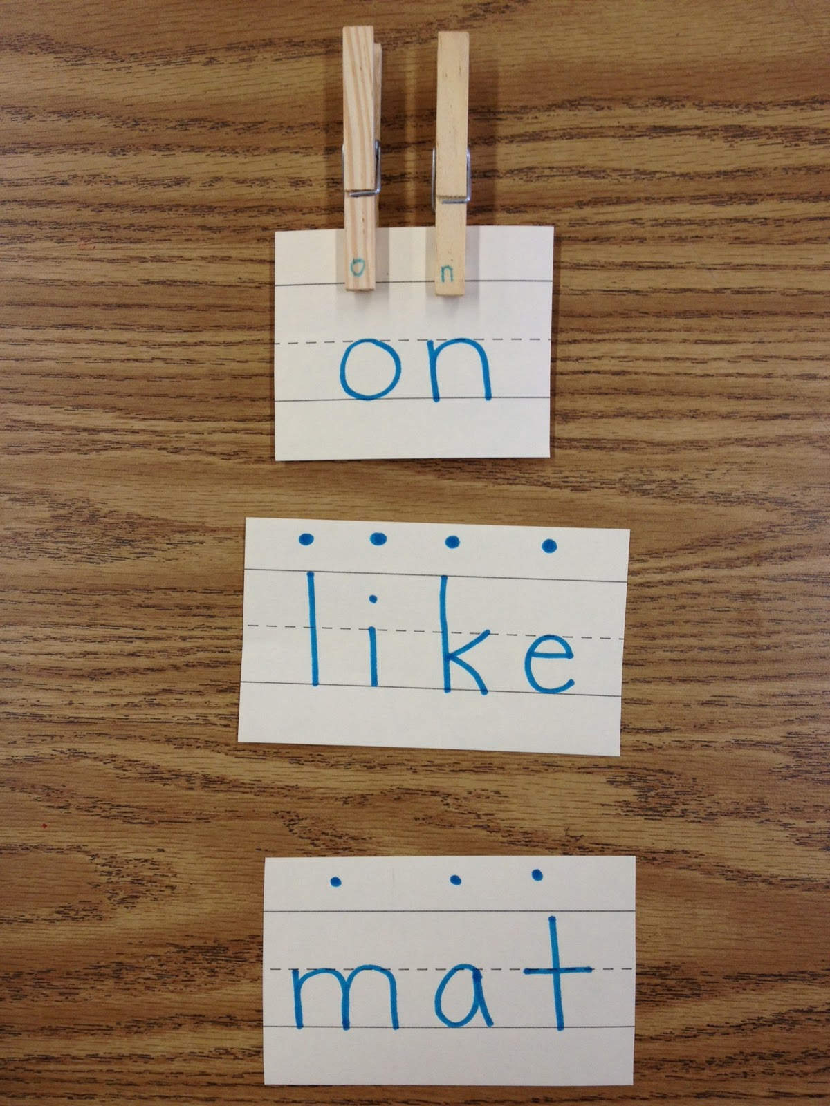 Clothes Pin Letters