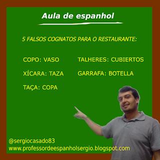 Falsos cognatos em espanhol para o restaurante