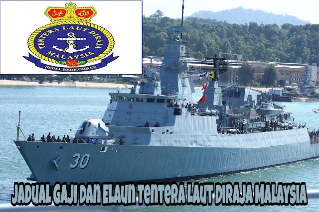 Jadual Gaji dan Elaun Tentera Laut Diraja Malaysia