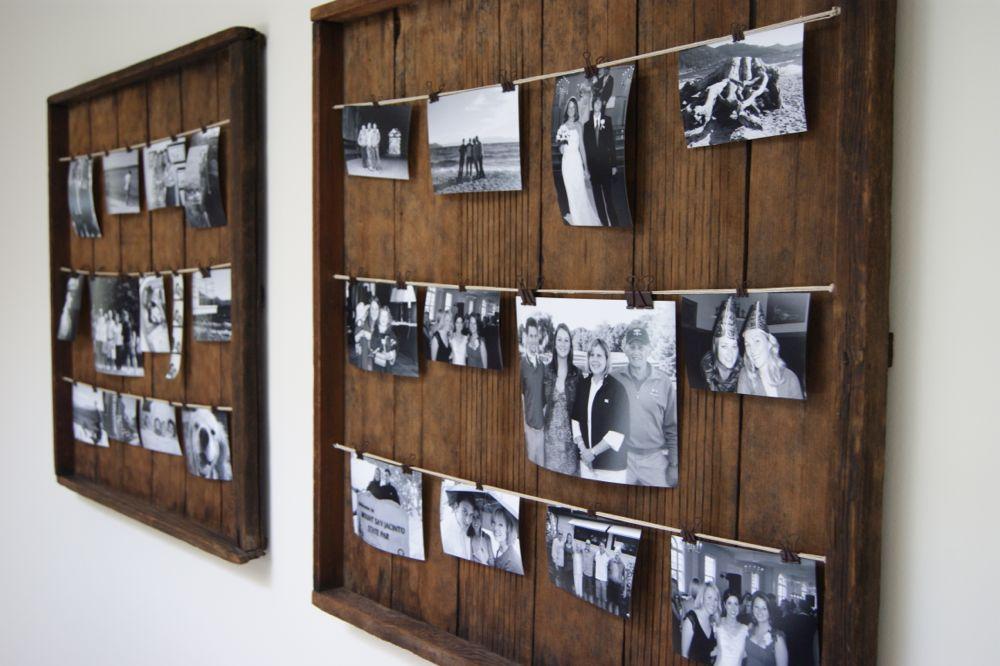 DIY Picture Frame - Kuzak\'s Closet