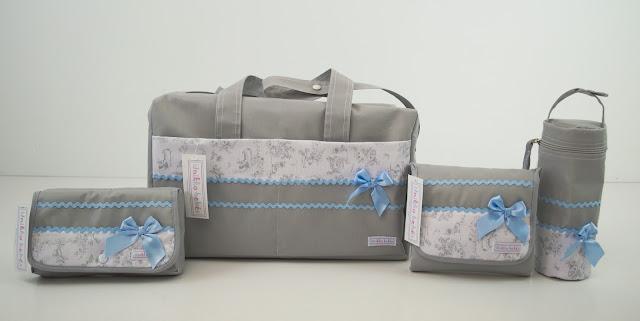 Canastilla bebe toile jouy gris azul