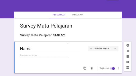 Cara Membuat Formulir Survey Siswa Siswi Lewat Google Form