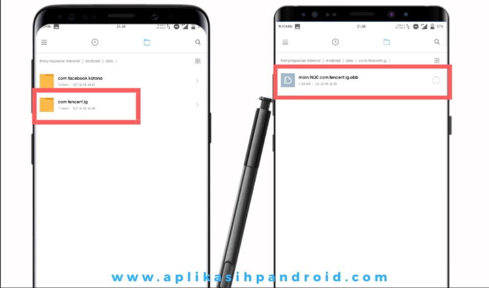 Cara mudah kirim file apk PUBG beserta datanya 3