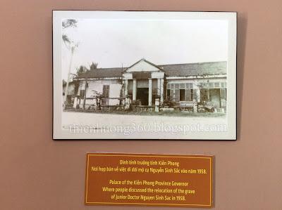 Dinh tỉnh trưởng tỉnh Kiến Phong (nơi họp bàn di dời mộ cụ Sắc 1958)