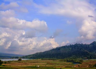 Waduk Selorejo dilihat dari rest area