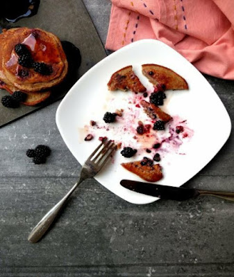 Blackberry & Apple Protein Pancakes
