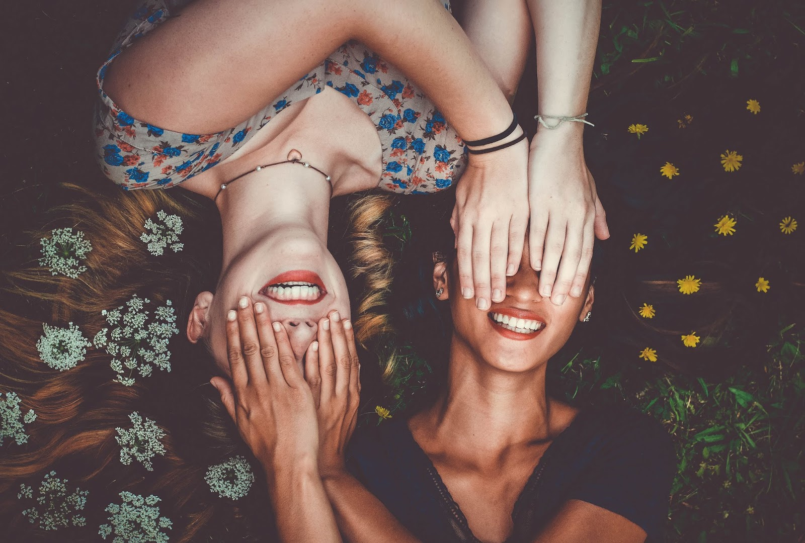 Image: Two Girls Happily Smiling : Bit And Babbles By Tangie Bell