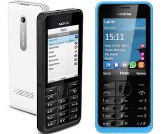 Nokia 301 Harga dan Spesifikasi, Ponsel Dual SIM Harga Murah