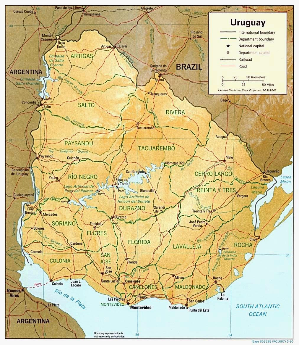#Uruguai | Mapas Geográficos do Uruguai