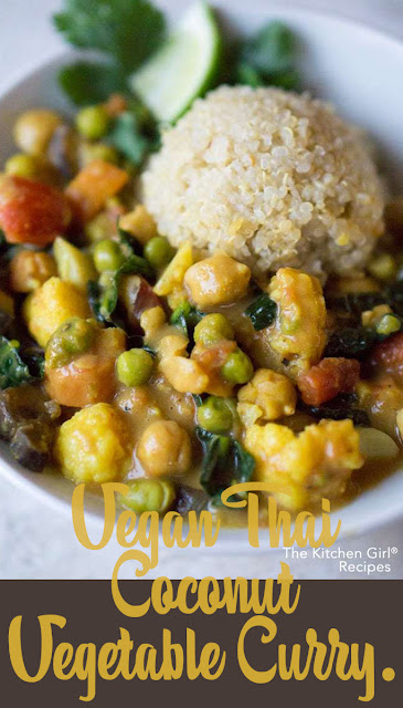 A Flavorful recipe of Vegan Thai Coconut Vegetable Curry.