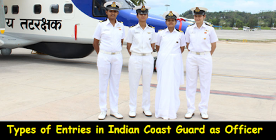 Types of Entries in Indian Coast Guard as Officer