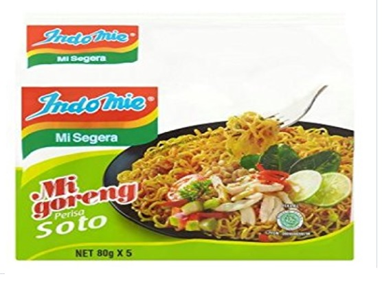 Indonesia Indomie Mi Goreng Soto Flavour Fried Noodles