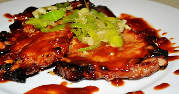 Oven Baked Pork With Hoisin-Barbeque Sauce Recipe