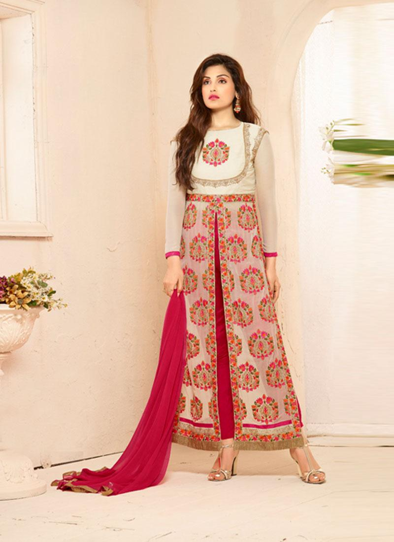 LEVEL-5-  Designer  Fashion Faux Georgette Salawar Suit
