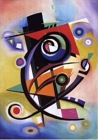 Quadro astratto in onore a Kandinsky