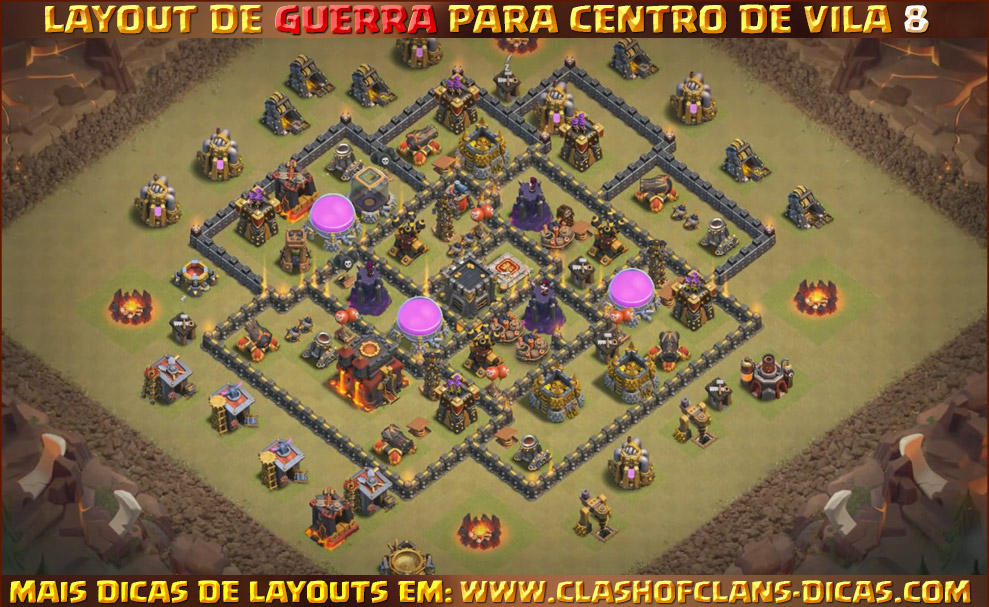 layouts de centro de vila 8 para guerra