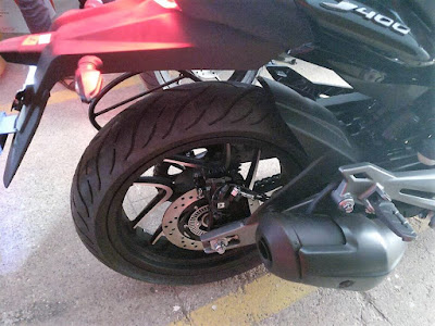 Bajaj Dominar 400 Rear wheel pics